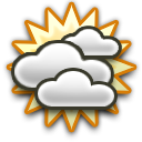 Partly cloudy Moderate dew